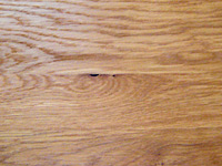 oak: wood stain + lacquer